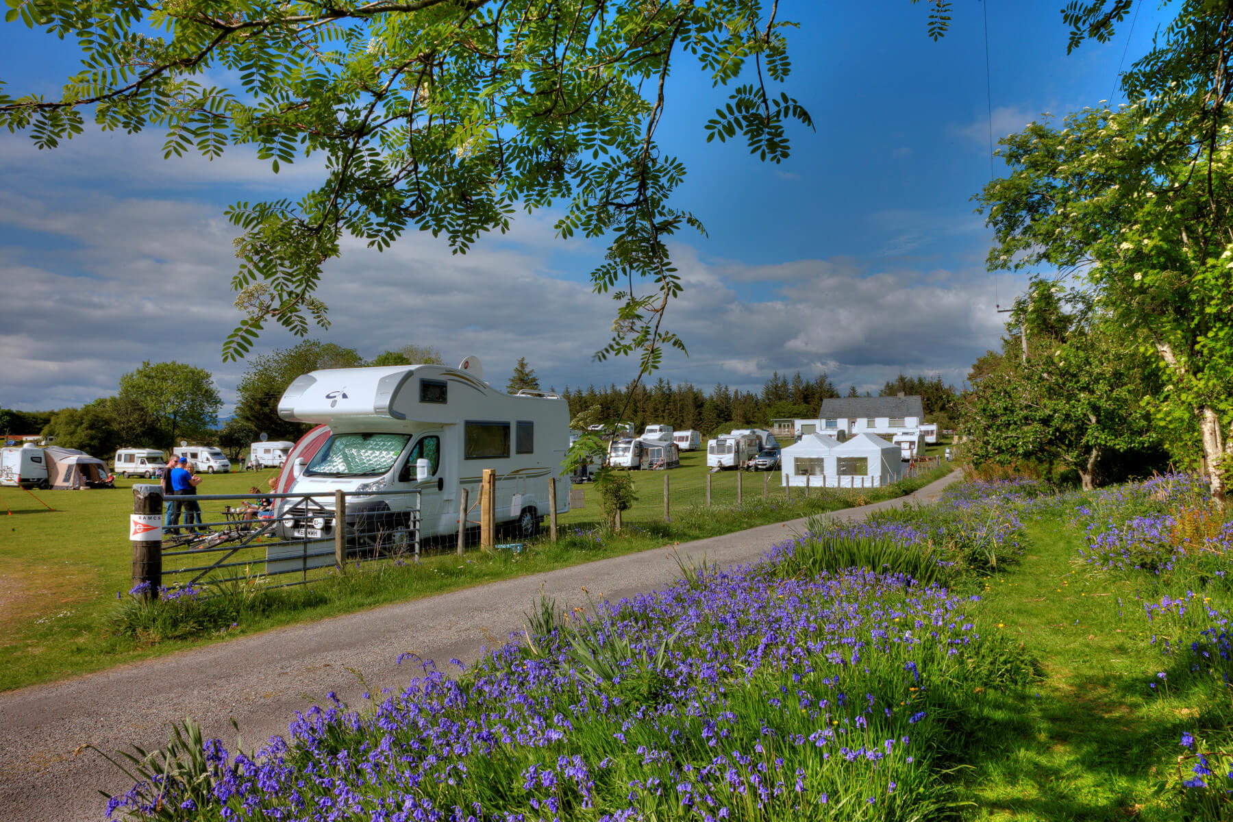 Spacious Motorhome Pitches - Benderloch - Argyll - Scotland