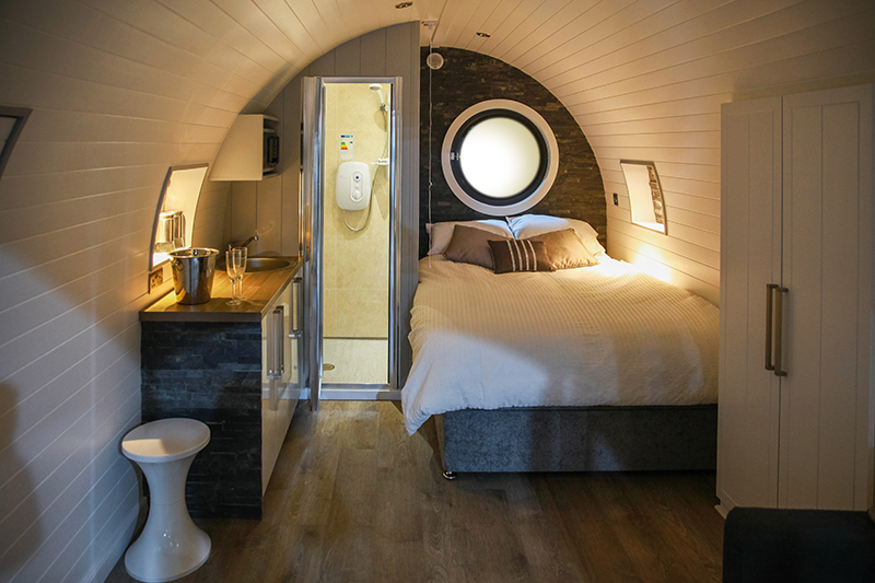 The Glencoe Glamping Pod Bed