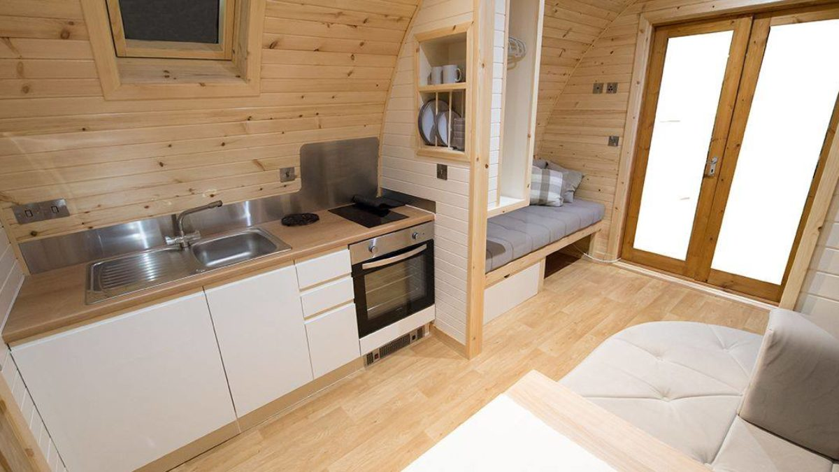 Scottish Glamping Pod Interior