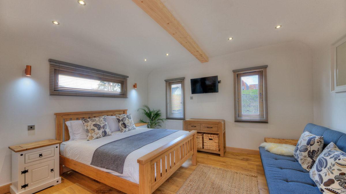 The Argyll Glamping Pod Bedroom