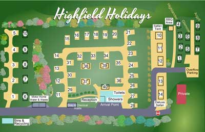 Highfield Holidays Park Map
